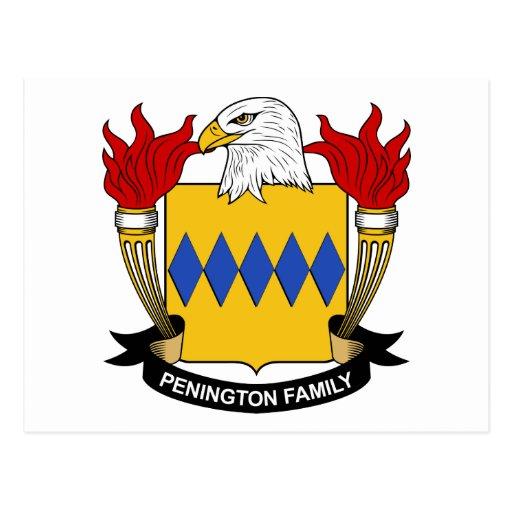 Escudo de la familia de Penington Postal