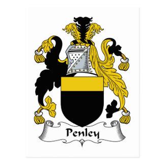 Escudo de la familia de Penley Postales