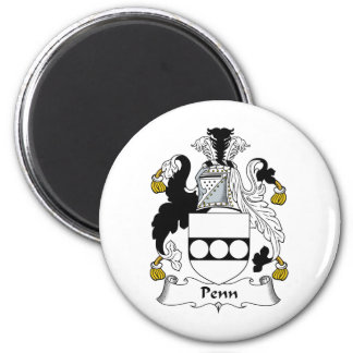 Escudo de la familia de Penn Imán Redondo 5 Cm
