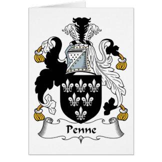 Escudo de la familia de Penne Tarjeta De Felicitación