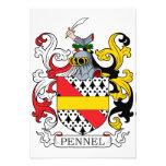 Escudo de la familia de Pennel Comunicado Personalizado