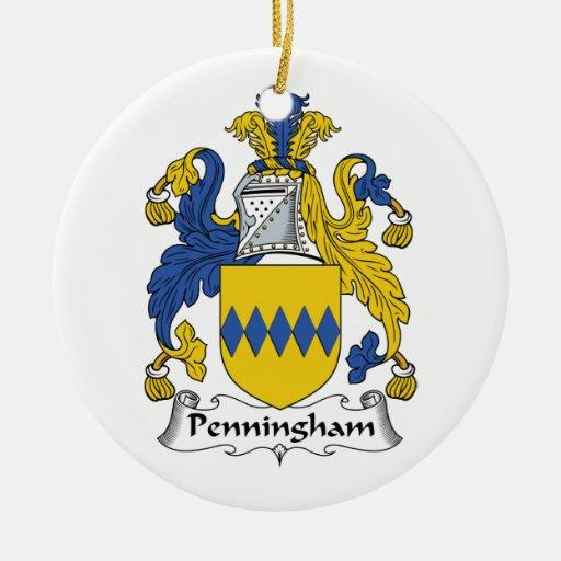 Escudo de la familia de Penningham Ornamento Para Reyes Magos