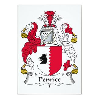 """Escudo de la familia de Penrice Invitación 5"""" X 7"""""""