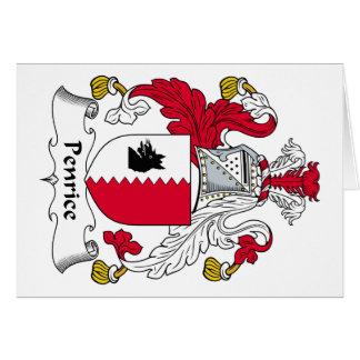 Escudo de la familia de Penrice Tarjeta De Felicitación