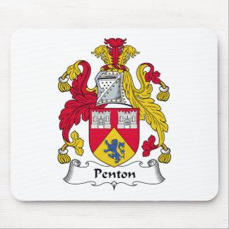 Escudo de la familia de Penton Alfombrillas De Raton