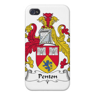 Escudo de la familia de Penton iPhone 4 Protectores