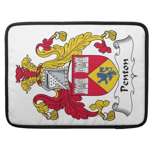 Escudo de la familia de Penton Funda Para Macbooks