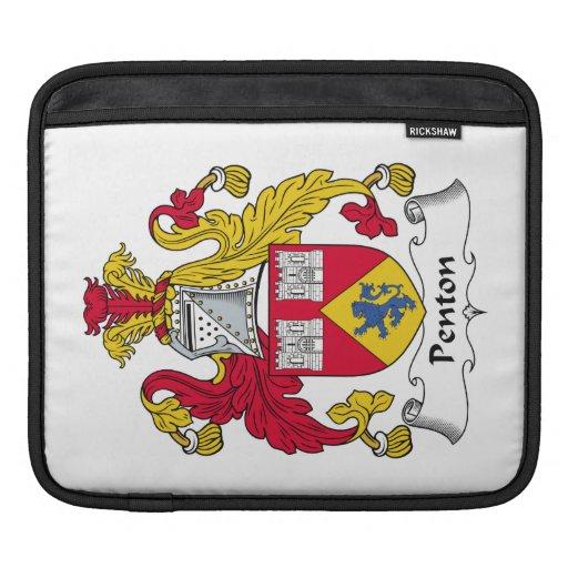 Escudo de la familia de Penton Fundas Para iPads