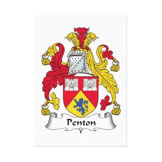 Escudo de la familia de Penton Impresiones En Lona