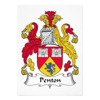 Escudo de la familia de Penton Invitacion Personal