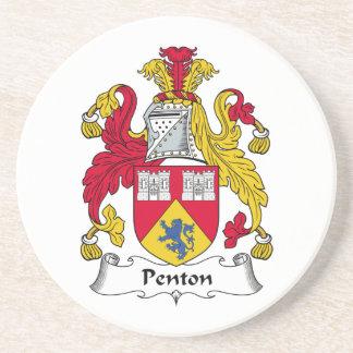 Escudo de la familia de Penton Posavasos Cerveza