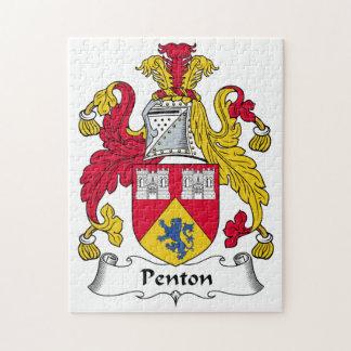 Escudo de la familia de Penton Rompecabezas Con Fotos