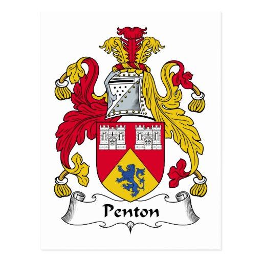 Escudo de la familia de Penton Tarjeta Postal