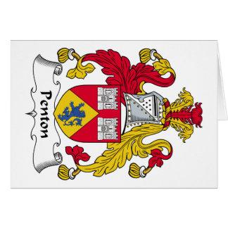 Escudo de la familia de Penton Tarjetas