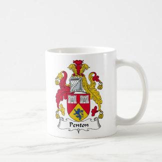 Escudo de la familia de Penton Taza De Café