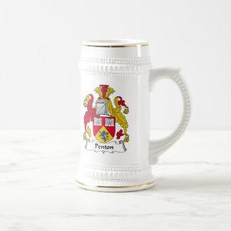 Escudo de la familia de Penton Tazas De Café