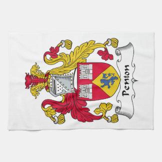 Escudo de la familia de Penton Toalla De Mano