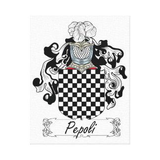 Escudo de la familia de Pepoli Impresión En Tela
