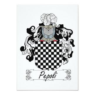 """Escudo de la familia de Pepoli Invitación 5"""" X 7"""""""