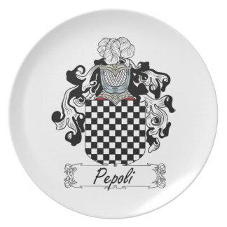 Escudo de la familia de Pepoli Plato De Cena