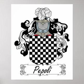 Escudo de la familia de Pepoli Póster