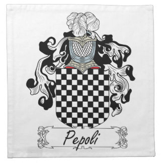 Escudo de la familia de Pepoli Servilletas Imprimidas