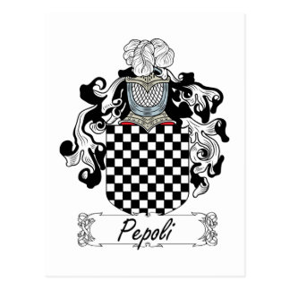 Escudo de la familia de Pepoli Tarjeta Postal