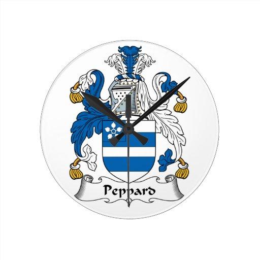 Escudo de la familia de Peppard Reloj