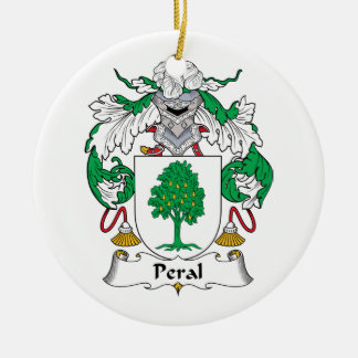 Escudo de la familia de Peral Adorno Redondo De Cerámica