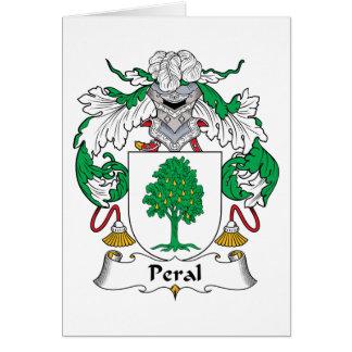 Escudo de la familia de Peral Tarjeta De Felicitación