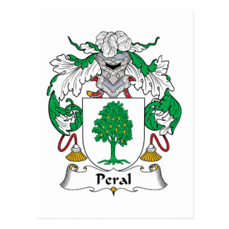 Escudo de la familia de Peral Postal