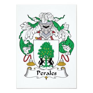 """Escudo de la familia de Perales Invitación 5"""" X 7"""""""