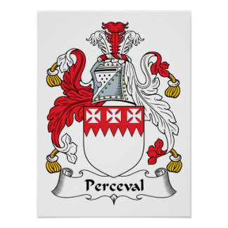 Escudo de la familia de Perceval Poster