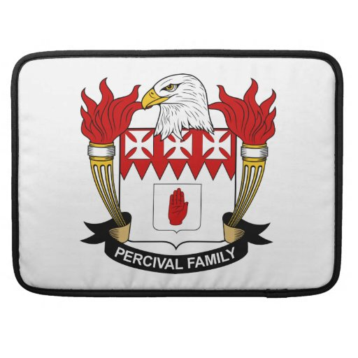 Escudo de la familia de Percival Funda Para Macbooks