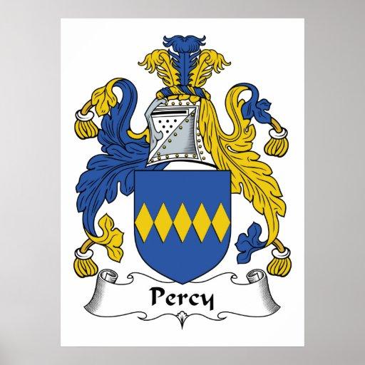 Escudo de la familia de Percy Impresiones