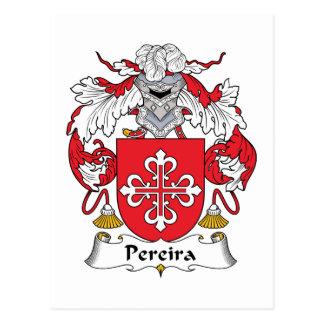 Escudo de la familia de Pereira Tarjeta Postal
