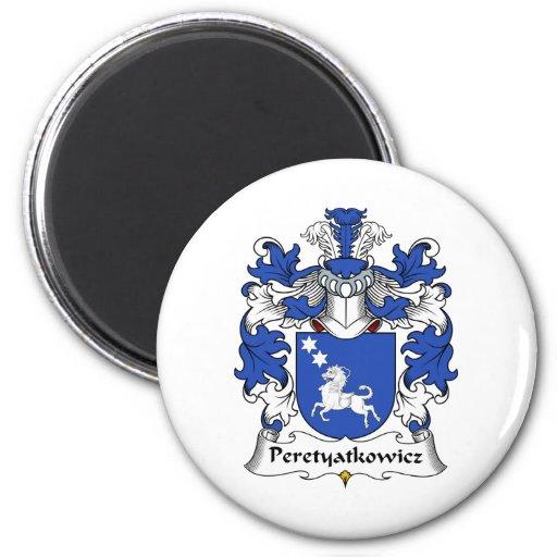 Escudo de la familia de Peretyatkowicz Imán Redondo 5 Cm
