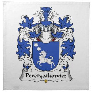 Escudo de la familia de Peretyatkowicz Servilletas Imprimidas