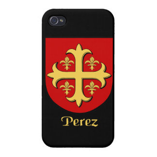 Escudo de la familia de Pérez iPhone 4 Fundas