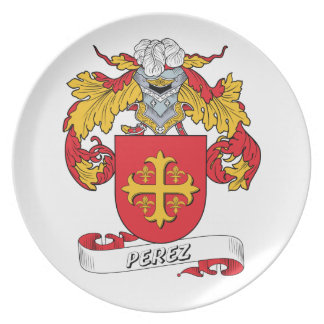 Escudo de la familia de Pérez Plato Para Fiesta