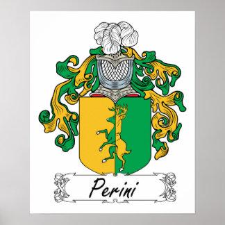 Escudo de la familia de Perini Impresiones