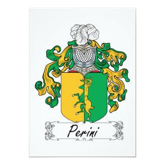 Escudo de la familia de Perini Invitación 12,7 X 17,8 Cm