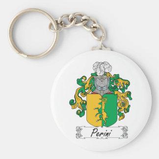 Escudo de la familia de Perini Llaveros Personalizados