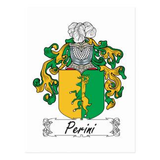 Escudo de la familia de Perini Tarjeta Postal