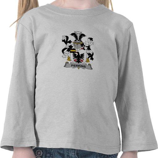 Escudo de la familia de Perkins Camisetas
