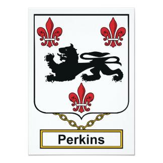 """Escudo de la familia de Perkins Invitación 4.5"""" X 6.25"""""""