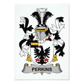 """Escudo de la familia de Perkins Invitación 5"""" X 7"""""""