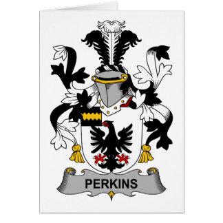 Escudo de la familia de Perkins Tarjeta De Felicitación