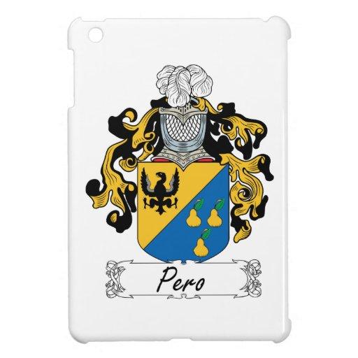 Escudo de la familia de Pero iPad Mini Cárcasas