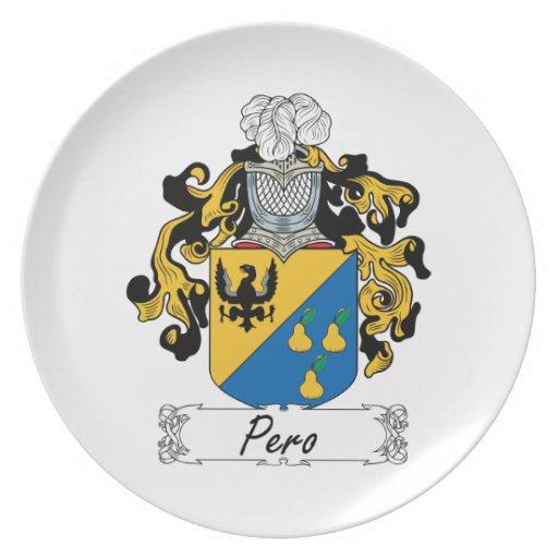 Escudo de la familia de Pero Plato De Cena